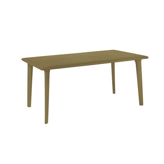 table de jardin dessa rectangulaire chocolat 6 personnes leroy merlin. Black Bedroom Furniture Sets. Home Design Ideas