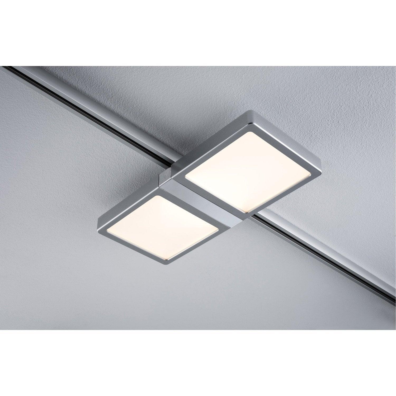 Spots Et Suspensions Pour Rail Design Aluminium Chrome Mat