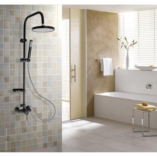 colonne de douche avec robinetterie rousseau siroco leroy merlin. Black Bedroom Furniture Sets. Home Design Ideas