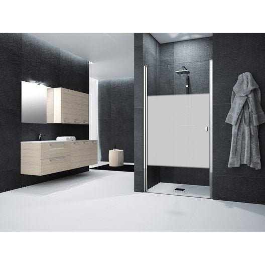 porte de douche pivotante 90 cm s rigraphi neo leroy. Black Bedroom Furniture Sets. Home Design Ideas