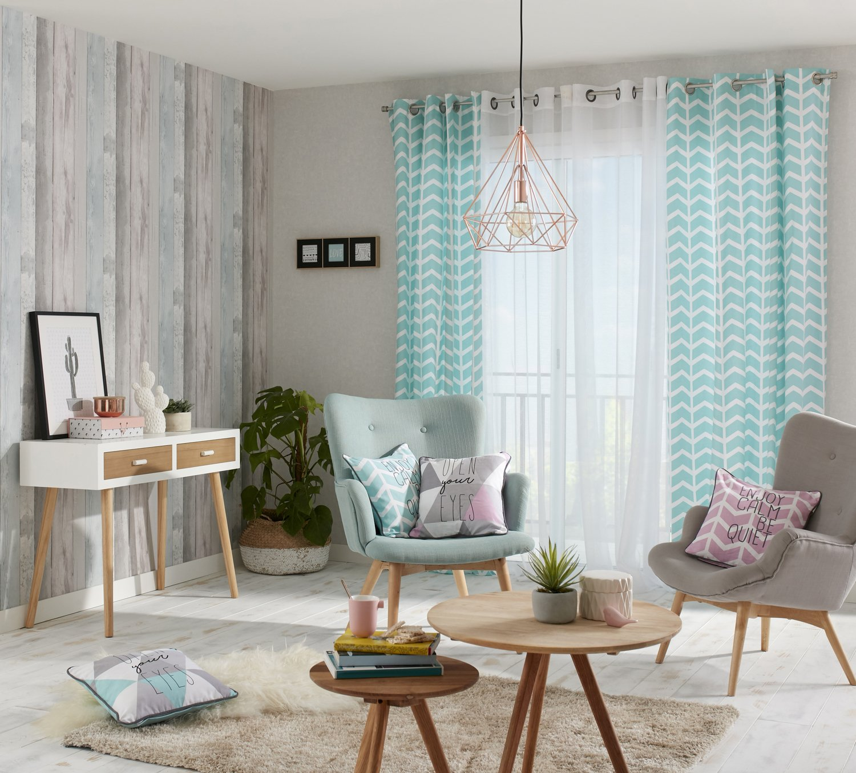 un style scandinave dans le salon leroy merlin. Black Bedroom Furniture Sets. Home Design Ideas