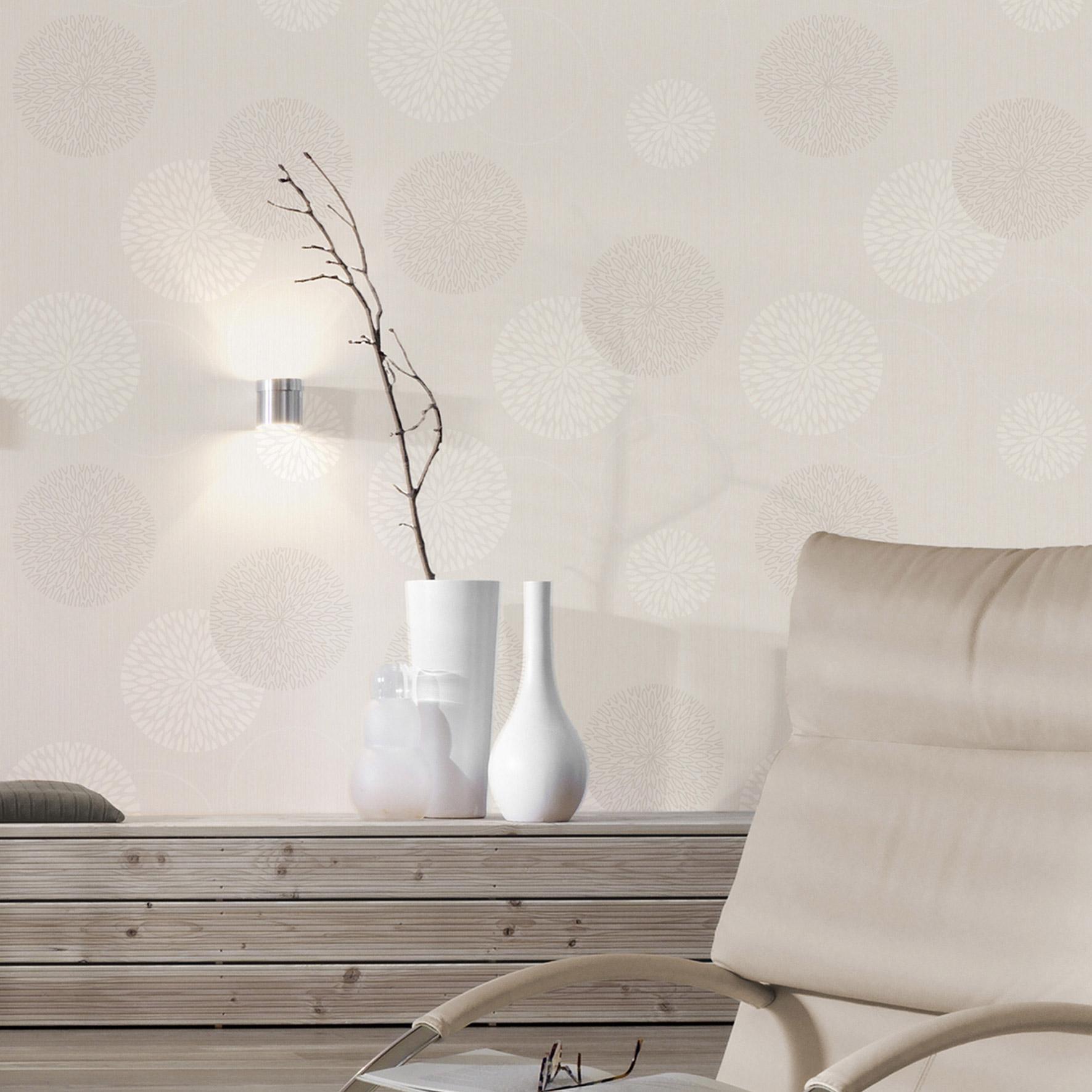 Papier peint expansé intissé Spot bulles blanc
