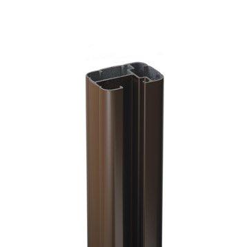 Poteau grillage aluminium pin bois leroy merlin - Poteau aluminium pour cloture ...