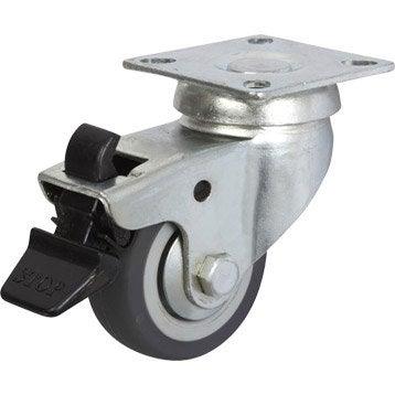 Roulette pivotante à freins à platine, Diam.50 mm