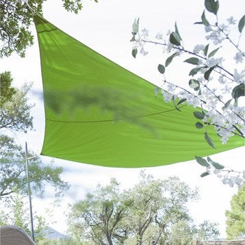 Voile d'ombrage triangle NATERIAL, vert vert n°3, 360x360 cm