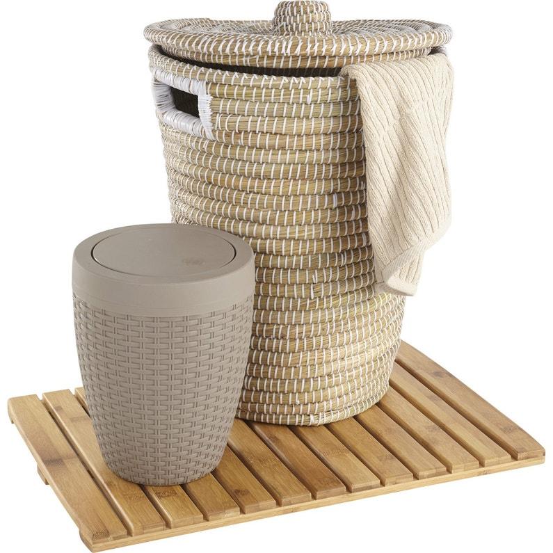 panier linge fibre v g tale phuket naturel x x cm leroy merlin. Black Bedroom Furniture Sets. Home Design Ideas