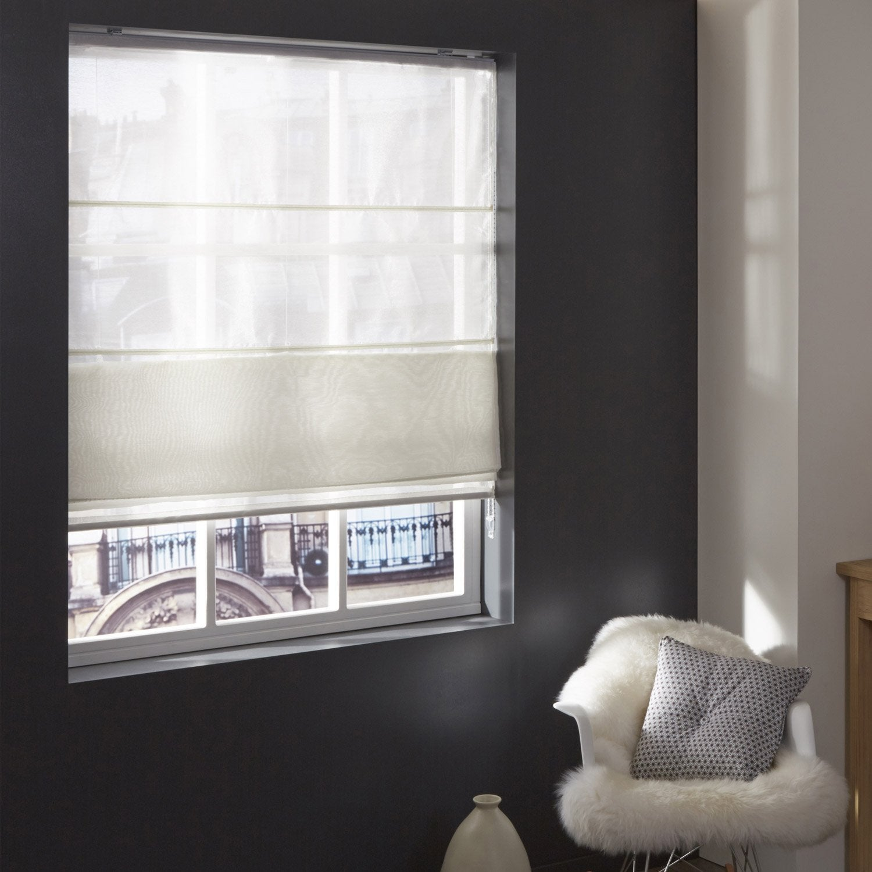 Store Bateau Elfi Inspire Mélange De Matières Blanc 60x250 Cm