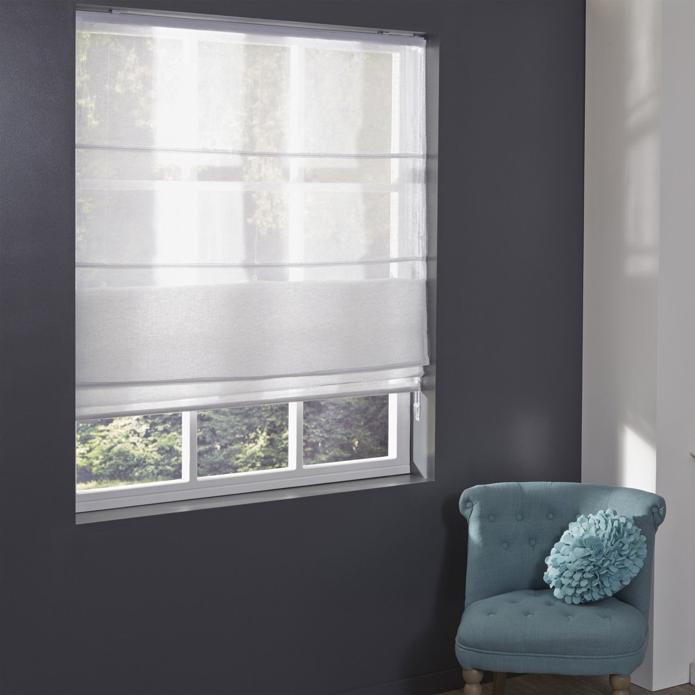 Elegant Store Bateau Lineo Inspire Lin Blanc L X H Cm With Store Venitien  Electrique Interieur.