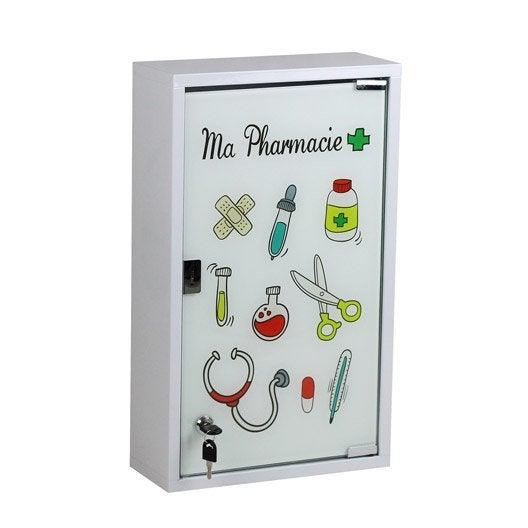 armoire pharmacie cm blanc ma pharmacie leroy merlin. Black Bedroom Furniture Sets. Home Design Ideas