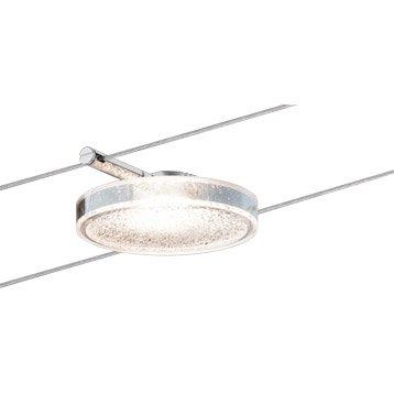 Kit complet câble led Discled métal Chrome, 5 PAULMANN