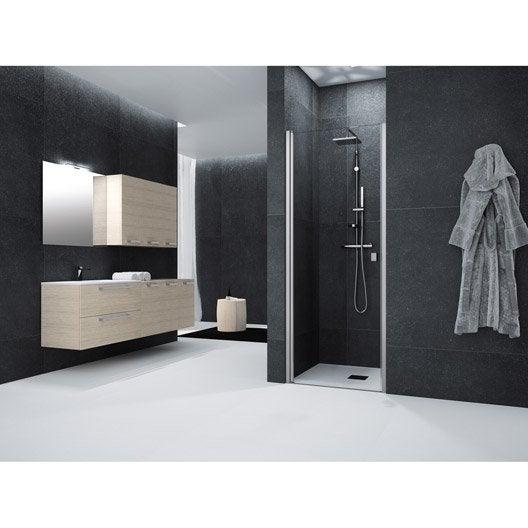 porte de douche pivotante 70 cm transparent neo leroy merlin. Black Bedroom Furniture Sets. Home Design Ideas