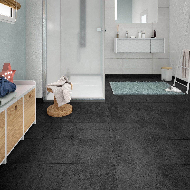 Salle De Bain Emotion ~ carrelage sol et mur noir effet b ton emotion l 30 x l 60 4 cm