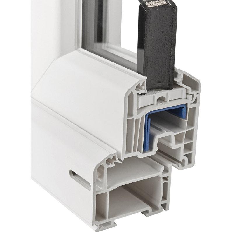 Fenêtre Pvc Brico Essentiel Fixe Sans Ouverture H135 X L120 Cm