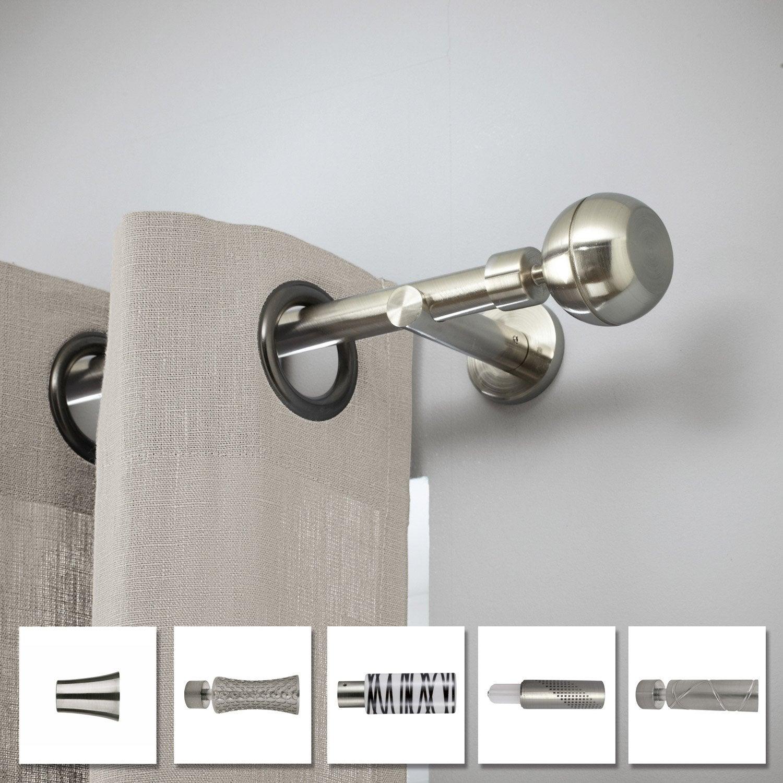 Tringle à rideau Chic chromé brossé 150 cm INSPIRE | Leroy Merlin