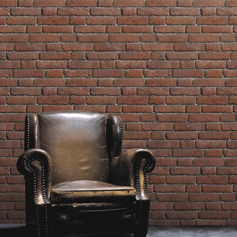 papier peint intiss briques anciennes orange leroy merlin. Black Bedroom Furniture Sets. Home Design Ideas