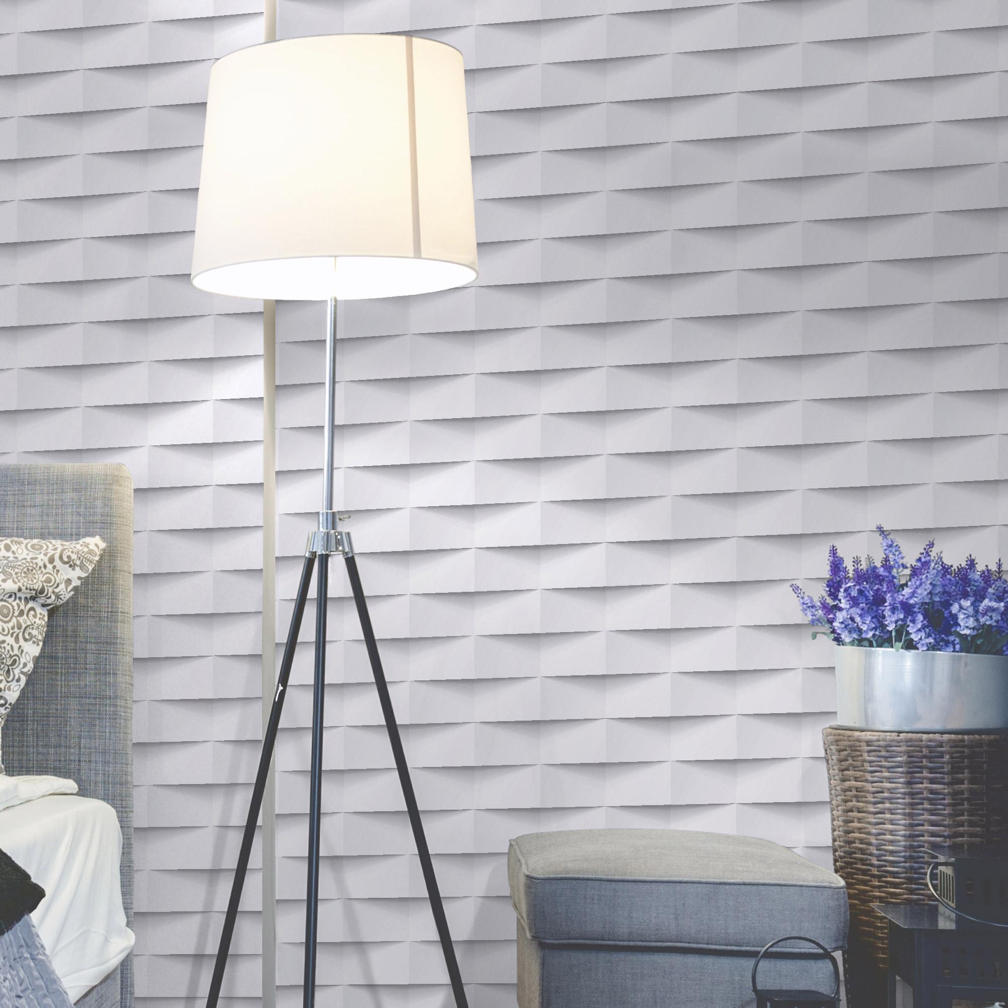 Papier Peint Intisse 3d Origami Blanc
