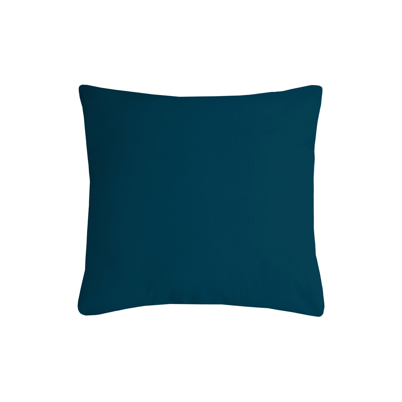 Coussin Nelson, bleu canard l.40 x H.40 cm
