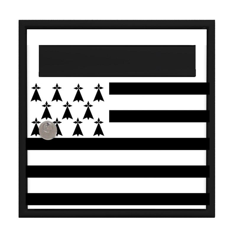 Boîte Aux Lettres Normalisée La Poste 1 Porte Ext Decayeux Blanc Noir Mat