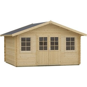 Abri de jardin abri garage rangement et tendage for Abri de jardin en bois leroy merlin