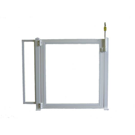 Portillon pour piscine pvc blanc x cm leroy for Portillon pour piscine