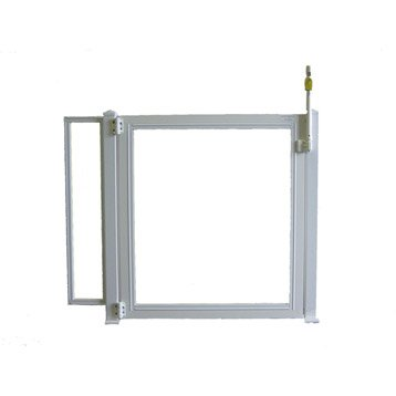 Portillon pour piscine pvc blanc, H.125 x l.150 cm