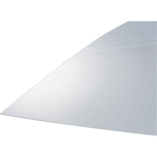 plaque de verre synth tique lisse transparent anti uv. Black Bedroom Furniture Sets. Home Design Ideas