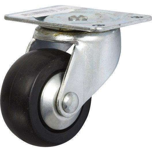 Roulette pivotante platine mm leroy merlin - Roulette industrielle pour meuble ...