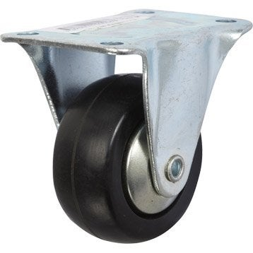Roulette fixe à platine, Diam.50 mm