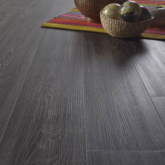 lame pvc clipsable aspen oak black contesse revelation leroy merlin. Black Bedroom Furniture Sets. Home Design Ideas