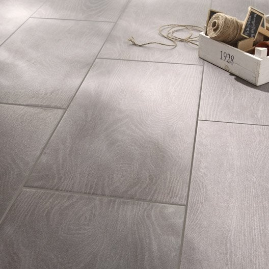Carrelage anthracite effet bois tropic x cm for Glissance carrelage