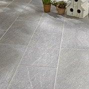 Carrelage gris effet pierre Stone grip l.21.6 x L.43.5 cm