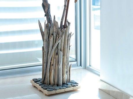 Fabriquer un range parapluie en bois flott - Fabriquer des objets en bois flotte ...