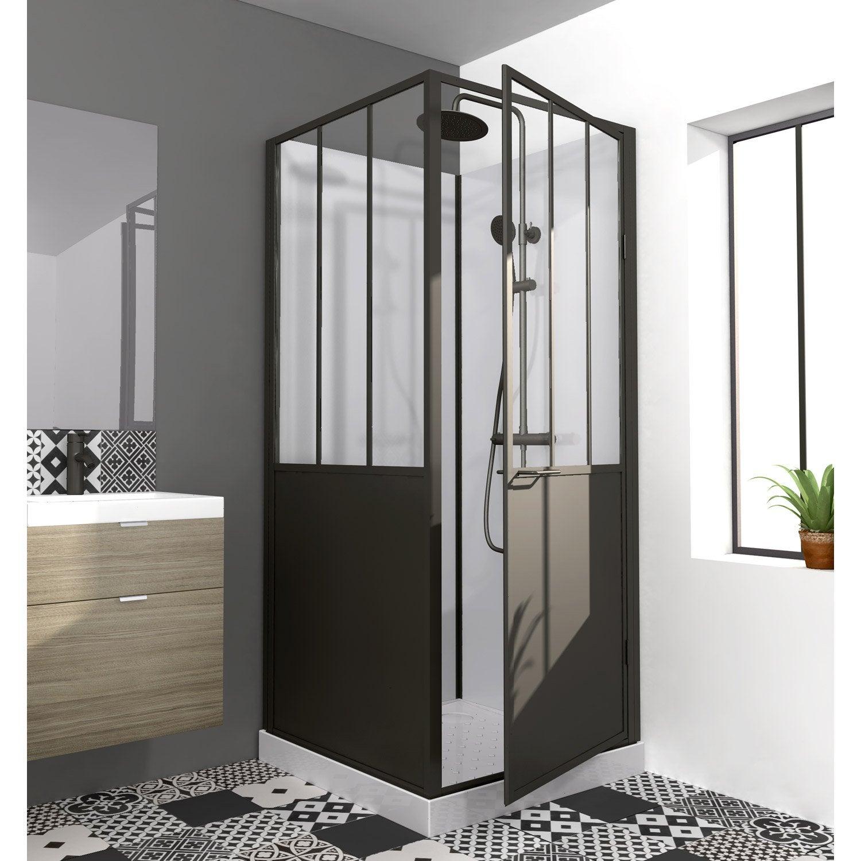 Cabine de douche carré L.90 x l.90 cm, Atelier