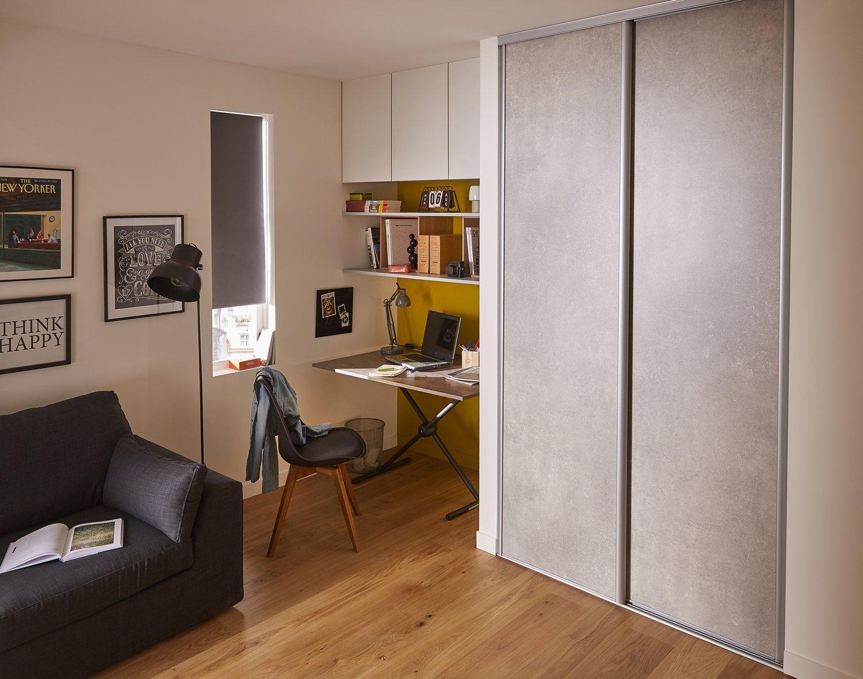 un bureau optimis et personnalis leroy merlin. Black Bedroom Furniture Sets. Home Design Ideas