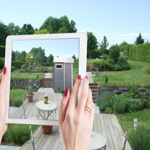 Abri de jardin cabane chalet kiosque garage leroy merlin for Mon jardin 3d
