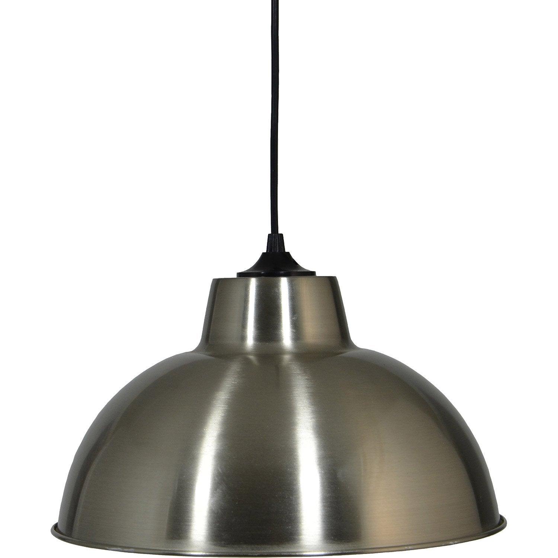 Suspension, e27 style industriel Mars métal acier brossé 1 x 60 W BOUDET