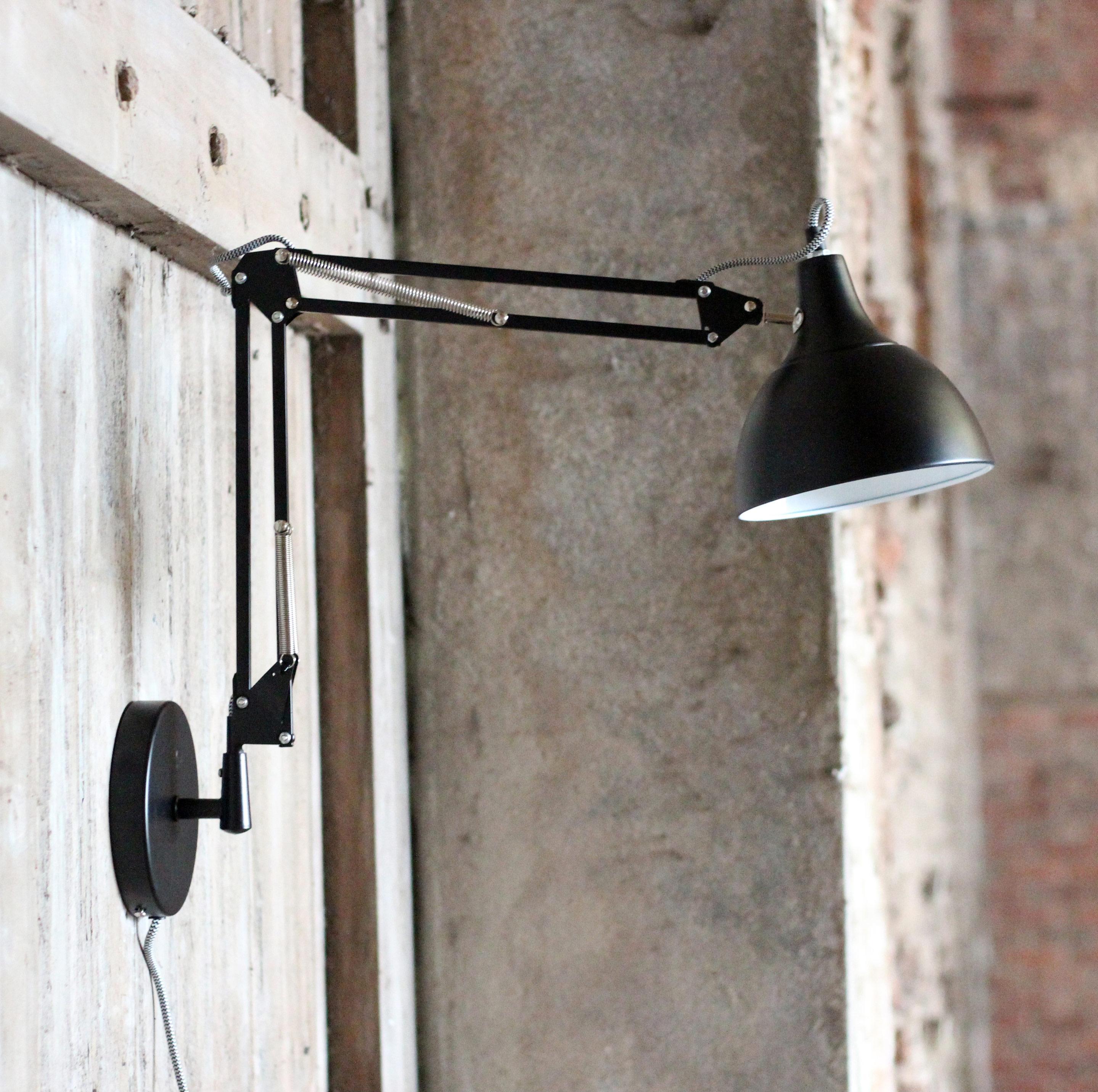 Applique, industriel métal noir RED CARTEL Archiwall 1 lumière(s)