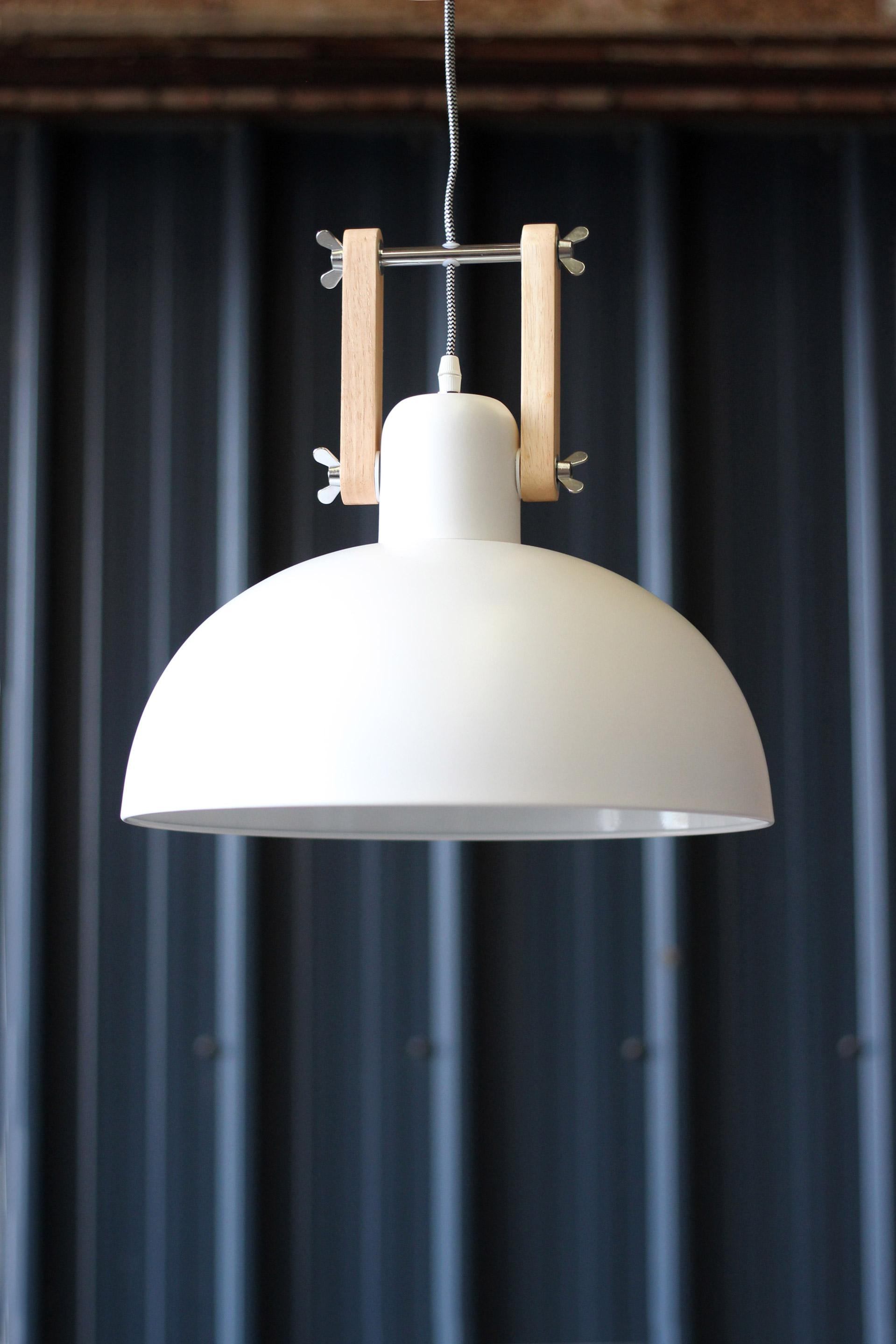 Suspension, e27 scandinave Dexter métal blanc 1 x 60 W