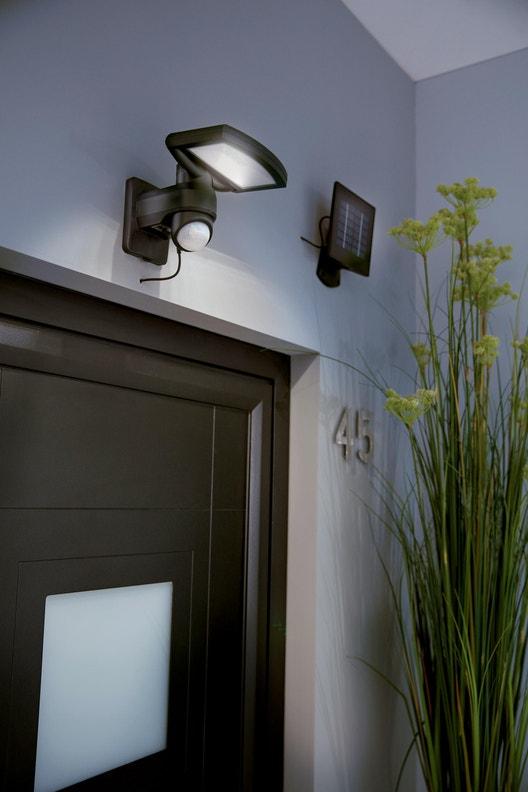 Lampe solaire merida 380 lm noir inspire leroy merlin - Lampe solaire jardin leroy merlin ...