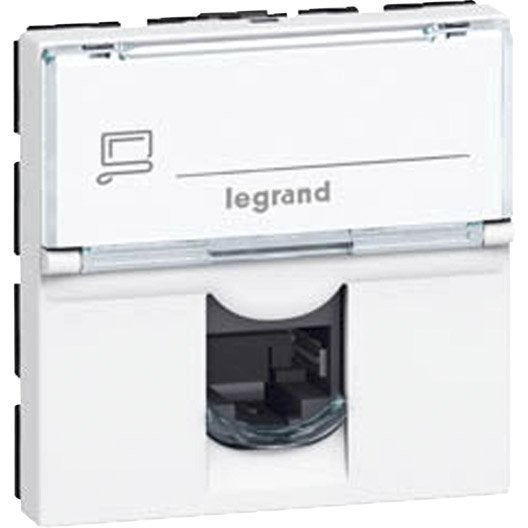 Beautiful prise rj mosaic legrand blanc with multiprise - Multiprise leroy merlin ...
