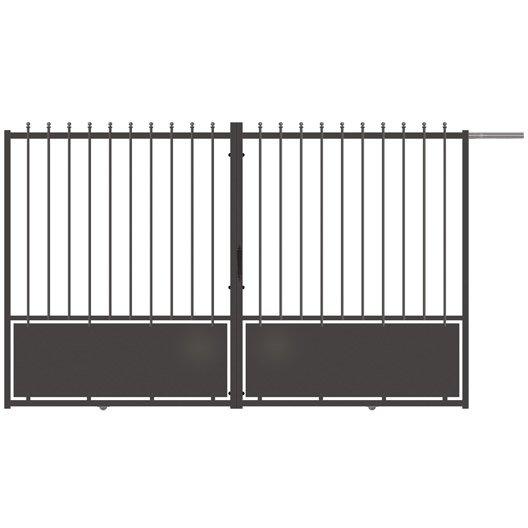 portail coulissant aluminium crete festonne gris anthracite x cm leroy merlin. Black Bedroom Furniture Sets. Home Design Ideas