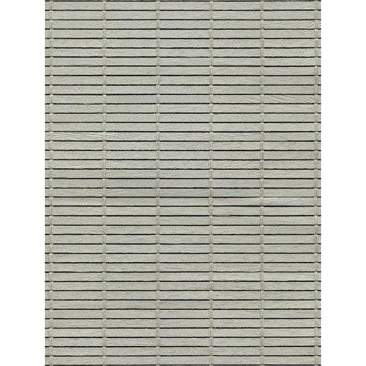 store enrouleur tamisant bois tiss gris clair 110x200. Black Bedroom Furniture Sets. Home Design Ideas