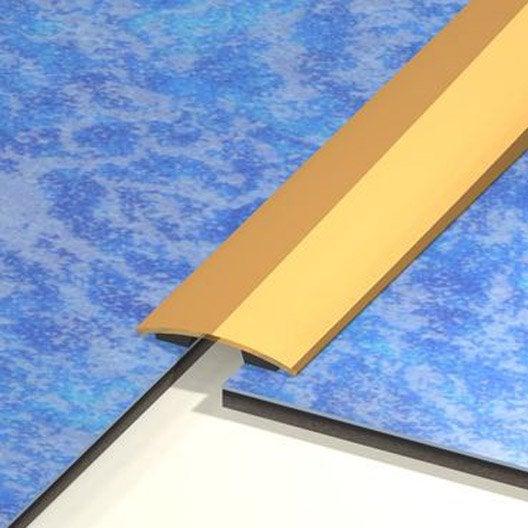 barre de seuil laiton doré l.83 x l.3 cm   leroy merlin