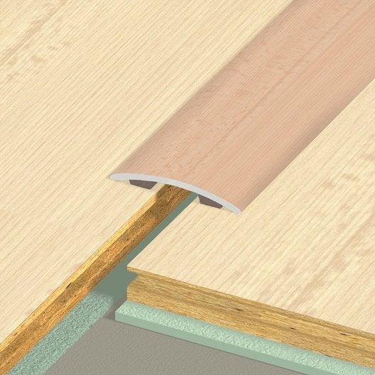 barre de seuil acier rev tu marron x l 3 cm leroy. Black Bedroom Furniture Sets. Home Design Ideas