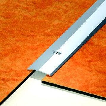 Barre de seuil inox gris L.73 x l.3 cm