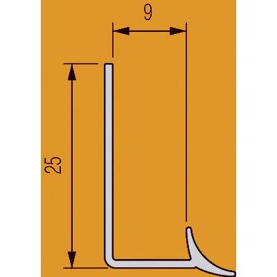 Joint Dangle Rentrant Carrelage Mur Pvc L25 M X Ep9 Mm