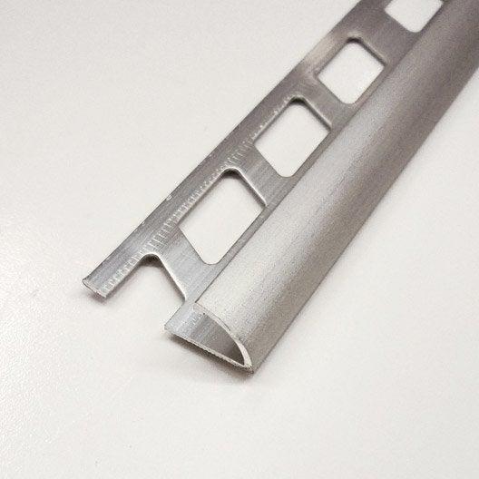 quart de rond carrelage mur aluminium anodis l 2 5 m x ep 9 mm leroy merlin. Black Bedroom Furniture Sets. Home Design Ideas