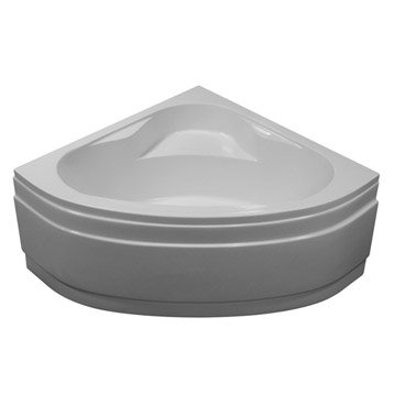 Baignoire d'angle L.130x l.130 cm blanc, SENSEA Access confort