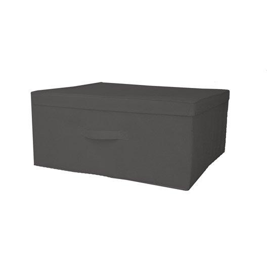 bo te de rangement intiss spaceo gris zingu n 1 l56xh25xp50 cm. Black Bedroom Furniture Sets. Home Design Ideas