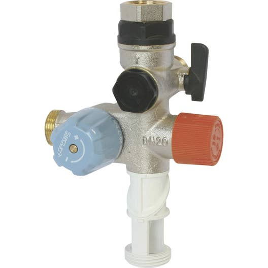 Groupe de s curit orientable inox 3 en 1 pour eau - Groupe securite ballon eau chaude ...